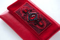 The red women clutch bag Stock Photos