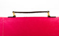 Red women handbag leather with handles Royalty Free Stock Photography