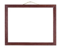 Red wood frame. Stock Images