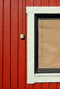 Red wooden house Royalty Free Stock Image