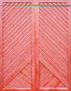 Red wooden plank door painted background Stock Images