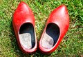 Red Wooden Shoes Stock Photos