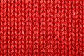 Red woolen texture Royalty Free Stock Image