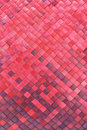 Red woven palm leaves mat Stock Photo