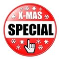 Red X-mas Button Royalty Free Stock Photo