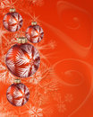 Red xmas balls Stock Image