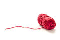 Red yarn on a white background Royalty Free Stock Image