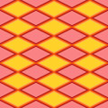 Red and yellow abstract pattern with rhombus