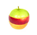 Red with yellow apple Stock Photo