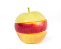 Red with yellow apple Royalty Free Stock Images