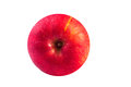 Red yellow apple isolate white background circle top view Royalty Free Stock Images