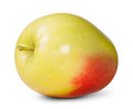 Red and yellow apple on white background Stock Image