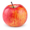 Red yellow apple on white with clipping path Stock Images