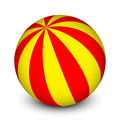 Red and yellow ball vector Royalty Free Stock Image