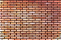 Red yellow beige tan fine brick wall texture background, large detailed horizontal closeup