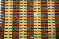 Red and Yellow building Royalty Free Stock Image