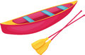 Red and yellow canoe Stock Images