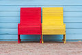 Red and yellow chairs Royalty Free Stock Photography