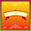 Red and yellow circus card Royalty Free Stock Image