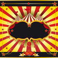 Red and yellow circus leaflet Royalty Free Stock Photo