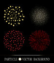 Red and yellow fireworks set on chess style transparent background Royalty Free Stock Photo