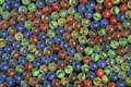 Red Yellow Green and Blue Marbles - Image 2 Royalty Free Stock Photo
