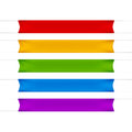 Red, Yellow, Green, Blue and Purple Empty Banners Royalty Free Stock Photo