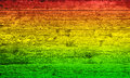 Red yellow and green wood Royalty Free Stock Photo