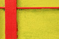 Red and yellow painted wall for background Stock Images