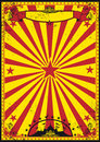 Red and yellow retro circus Royalty Free Stock Photo