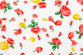 Red and yellow roses background texture Stock Image