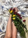 Roses on the bed Royalty Free Stock Photo