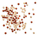 Red and yellow stone balls background Stock Photo