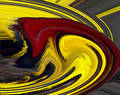 Red and Yellow Swirl Royalty Free Stock Photo