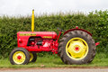 A red and yellow vintage david brown tractor Royalty Free Stock Photo