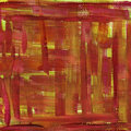 Red and yellow watercolor abstract on canvas Stock Images