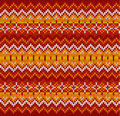 Red zigzag stripes vector knit seamless pattern ornate christmas Royalty Free Stock Photos