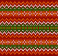 Red zigzag stripes vector knit seamless pattern ornate christmas Stock Photos