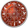 Red Zodiac Disc Royalty Free Stock Image