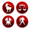 Red zodiac signs - set 3 Stock Photos