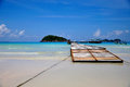 Redang island long beach pasir panjang and jetty Stock Image