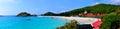 Redang island panorama panoramic view of s long beach pasir panjang Stock Images