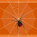 Redback spider a illustration based on aboriginal style of dot painting depicting Royalty Free Stock Image