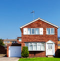 Redbrick English house Royalty Free Stock Photo