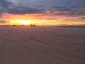 Redcar beach sunset Stock Image