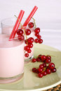 Redcurrant milkshake Royalty Free Stock Photo