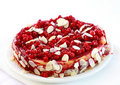 Redcurrant pie with almond Stock Photos