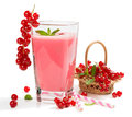Redcurrant smoothie drink Royalty Free Stock Photo