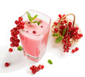 Redcurrant smoothie in a glass Royalty Free Stock Photo