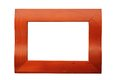 Reddish picture frame wooden isolated over white background for your design Stock Image